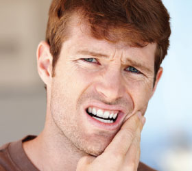 Knækket tand